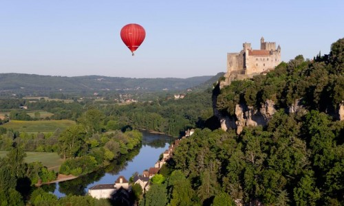 Castles and villages of the Périgord seen from the sky